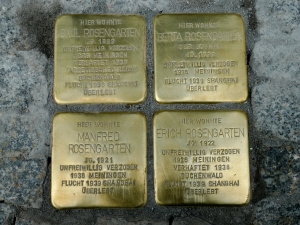 Rosengarten Stolpersteine on Bahnhofstrasse in Themar, Germany