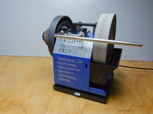 The rotating base lifts the Tormek less than an inch