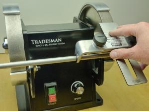 Toycen Tradesman with the Tormek fixture