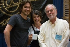 Konrad Sauer and Linda Rosengarten with me at WIA 2016.